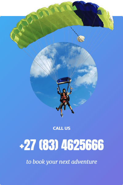 Skydive Robertson Call Now | Tandem Skydive