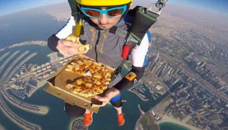 Skydiving while Eating
